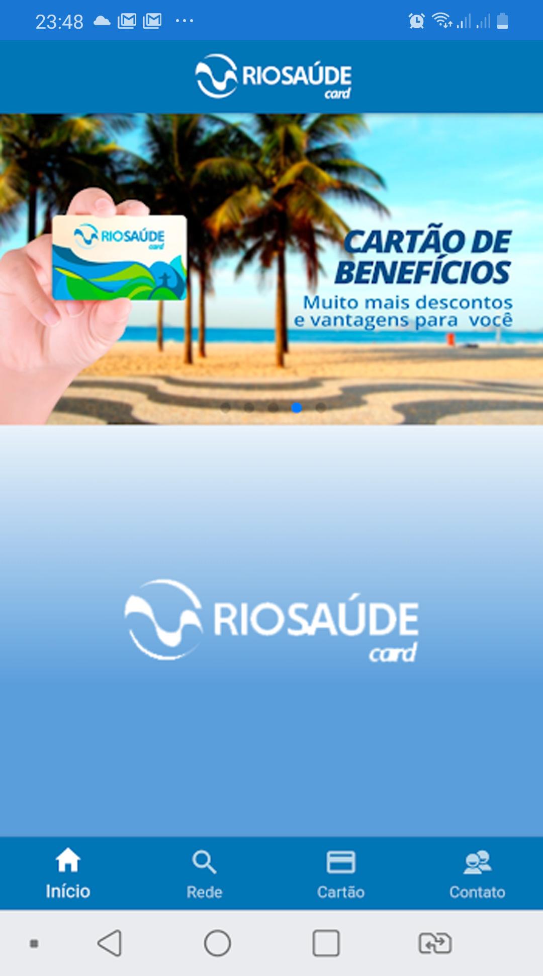 App Rio Saúde Card